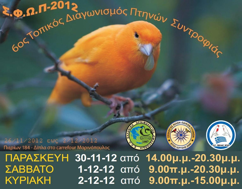 6ος Διαγωνισμός - Έκθεση 2012