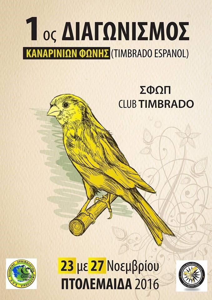 1ος Τοπικός διαγωνισμός Timbrado Espanol 2016