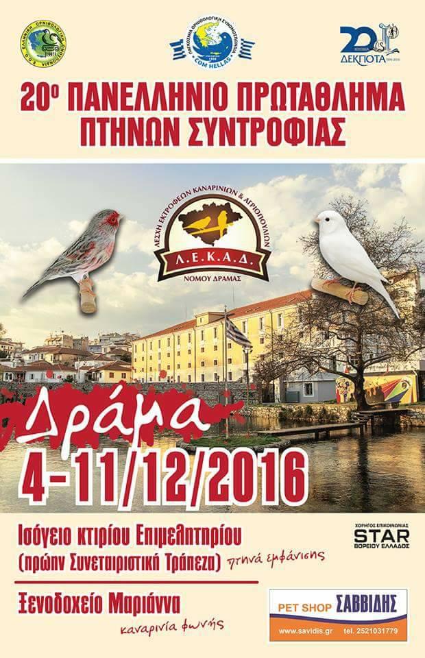 20ος Πανελλήνιος διαγωνισμός ΕΟΟ 2016